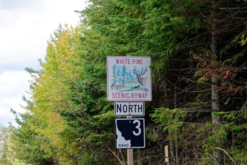 Toneelbyway van White Pine, Idaho stock afbeeldingen