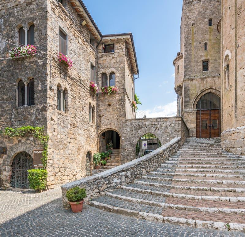 Toneelgezicht in Anagni, provincie van Frosinone, Lazio, centraal Italië royalty-vrije stock foto