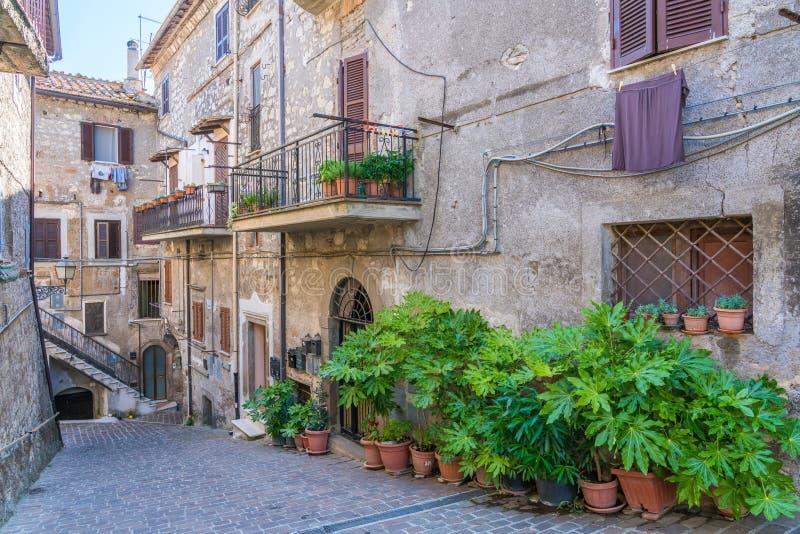 Toneelgezicht in het dorp van Carbognano, Provincie van Viterbo, Lazio, Italië royalty-vrije stock fotografie