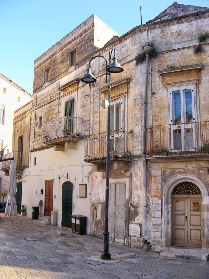 Toneelgezicht in Matera - Basilicata, Zuid-Italië royalty-vrije stock foto's