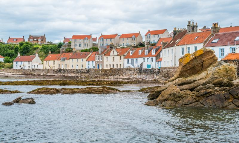 Toneelgezicht in Pittenweem, in Fife, op de oostkust van Schotland stock fotografie