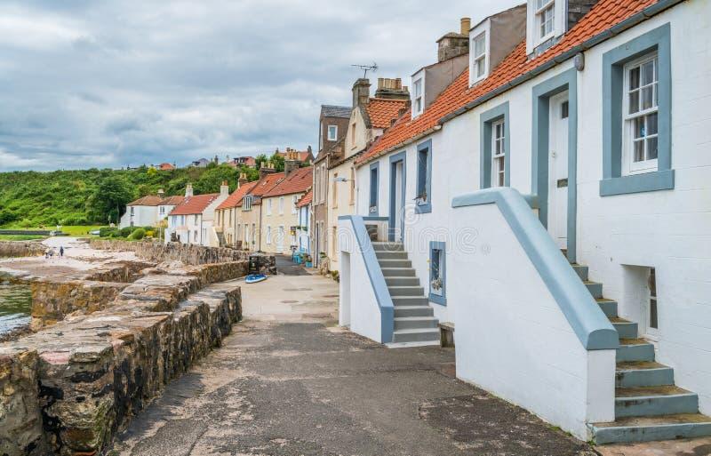 Toneelgezicht in Pittenweem, in Fife, op de oostkust van Schotland stock foto