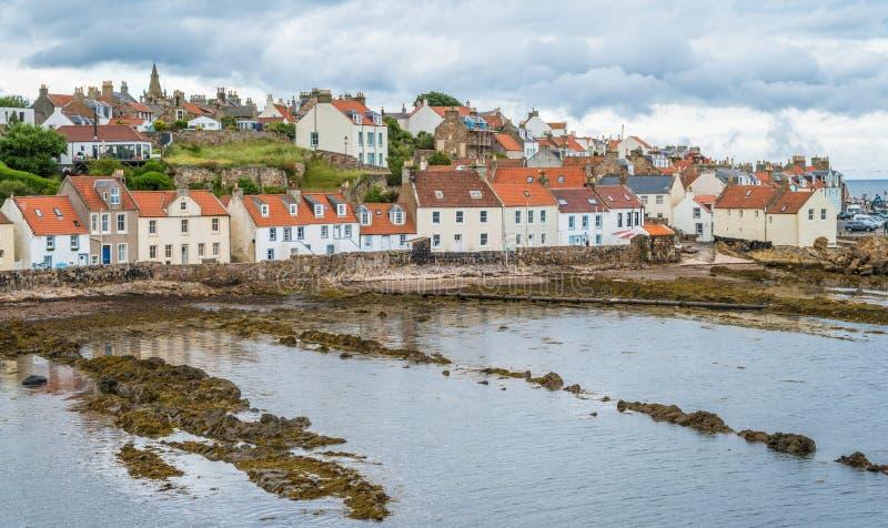 Toneelgezicht in Pittenweem, in Fife, op de oostkust van Schotland stock foto's