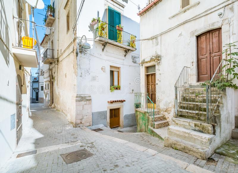 Toneelgezicht in Rodi Garganico, Foggia-Provincie, Puglia Italië stock foto's