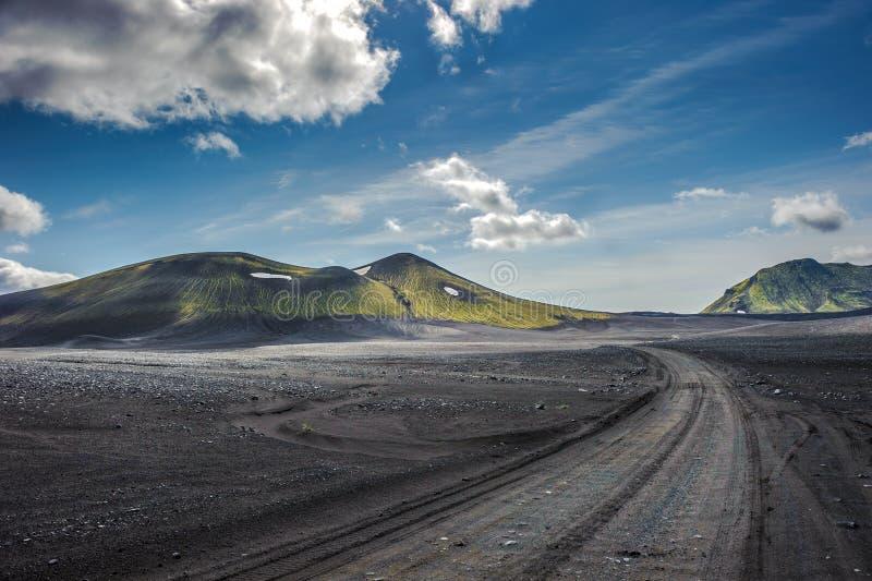 Toneelhooglandgebied van Landmannalaugar, IJsland royalty-vrije stock afbeelding