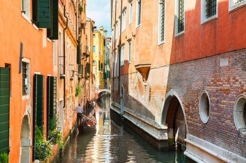 Toneelkanaal in Venetië, Italië royalty-vrije stock foto's