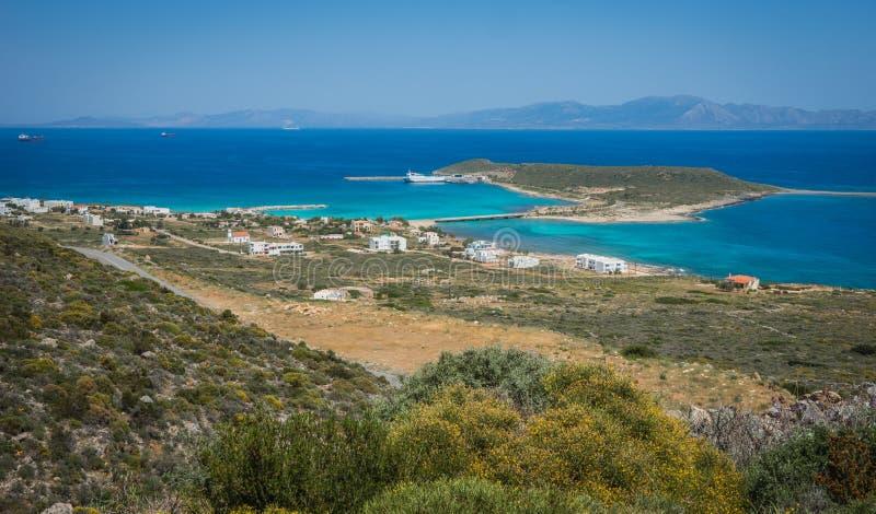Toneellandschap met seaview, Kythira, Griekenland royalty-vrije stock afbeeldingen