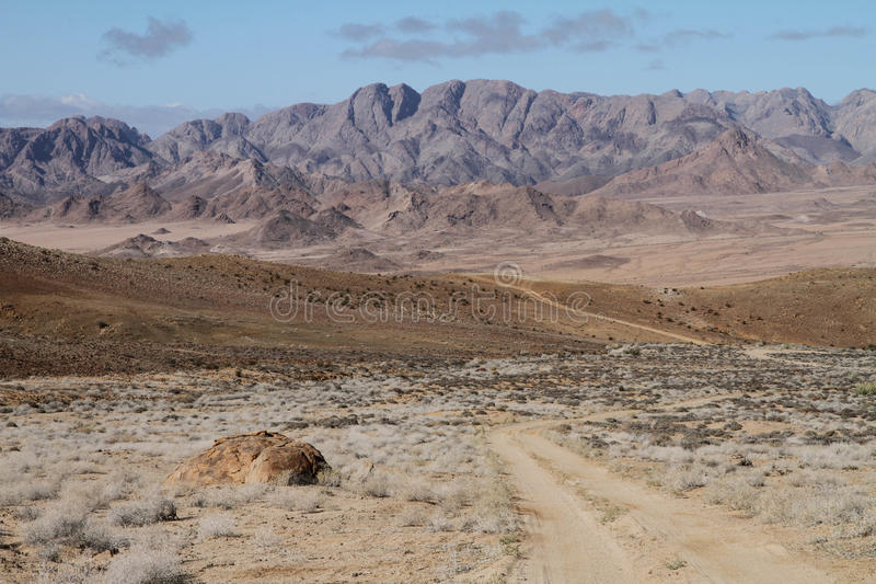 Toneellandschap in Richtersveld stock foto