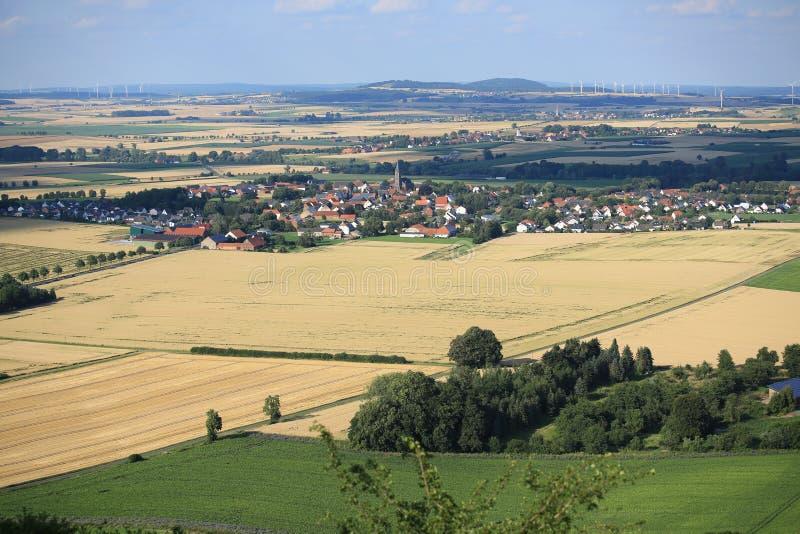Toneellandschap in Westfalen, Duitsland stock afbeelding