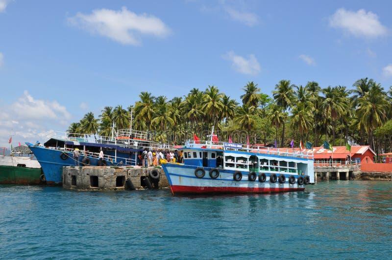 Toneelmening van de Andaman-Eilanden in India royalty-vrije stock foto