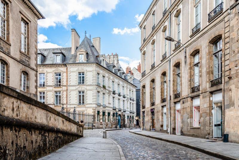 Toneelmening van de stad van Rennes in Frankrijk royalty-vrije stock foto