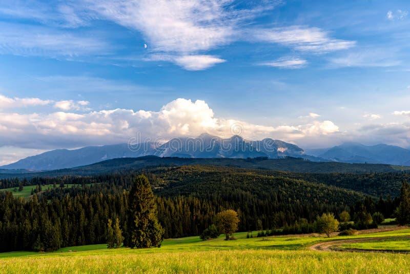 Toneelmening van dramatisch berglandschap van Hoge Tatras in Slowakije royalty-vrije stock fotografie