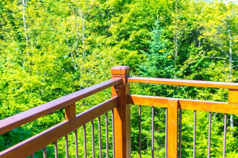 Toneelmening van het houvast en het groene bos in Quebec royalty-vrije stock foto