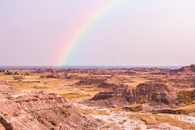 Toneelmening van het Nationale Park van Badlands stock foto's