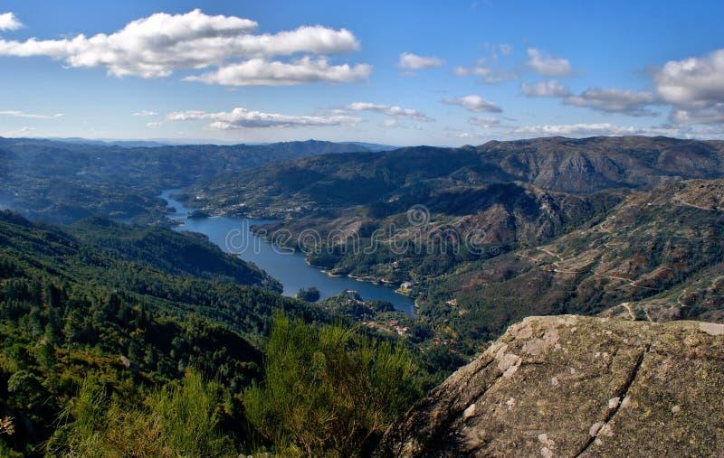 Toneelmening van Nationaal Park van Peneda Geres stock foto's