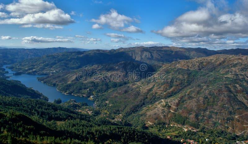 Toneelmening van Nationaal Park van Peneda Geres stock afbeelding