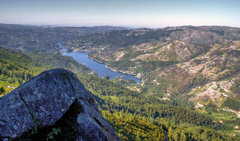 Toneelmening van Nationaal Park van Peneda Geres royalty-vrije stock afbeeldingen