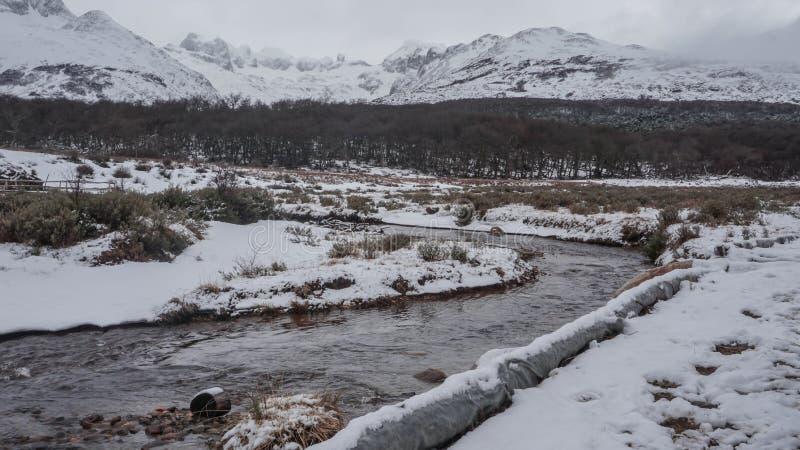 Toneelmeningen van Esmeralda Lake in Ushuaia, Argentinië, Patagonië stock foto