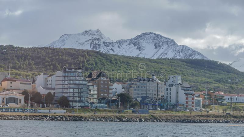 Toneelmeningen van Ushuaia, Argentinië, Patagonië royalty-vrije stock afbeeldingen