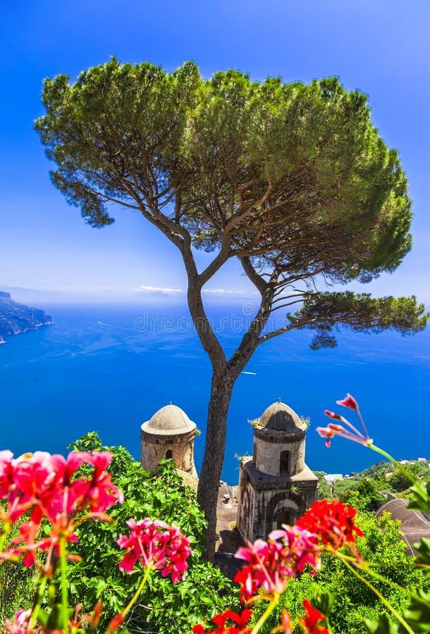 Toneelravello, Italië stock afbeeldingen