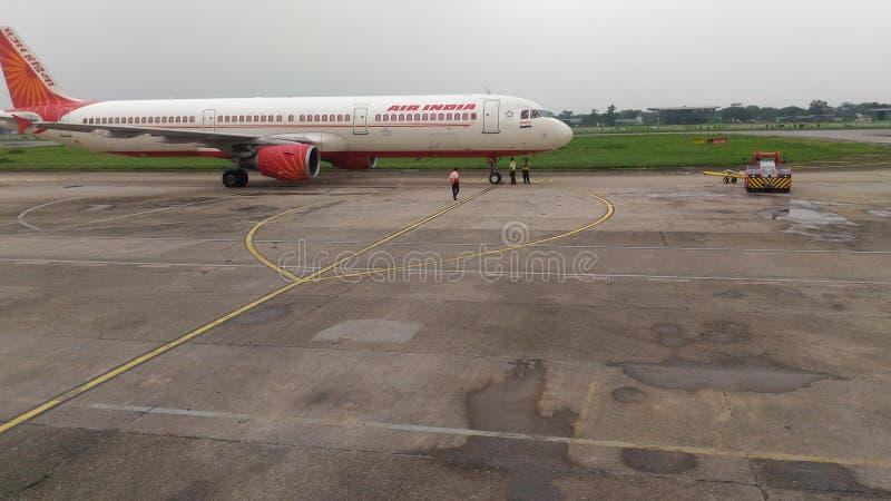 Toneelschoonheid van Guwahati-luchthaven, Assam, Noordoostelijk India, India royalty-vrije stock foto's