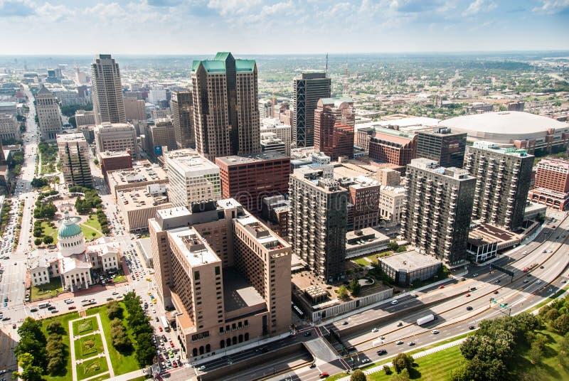 Toneelveiw van St.Louis van de stad royalty-vrije stock foto