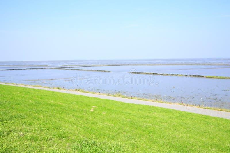Toneelwadden Overzees Nationaal Park in Nedersaksen, Noordzee, Duitsland stock fotografie
