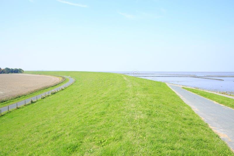 Toneelwadden Overzees Nationaal Park in Nedersaksen, Noordzee, Duitsland stock foto's