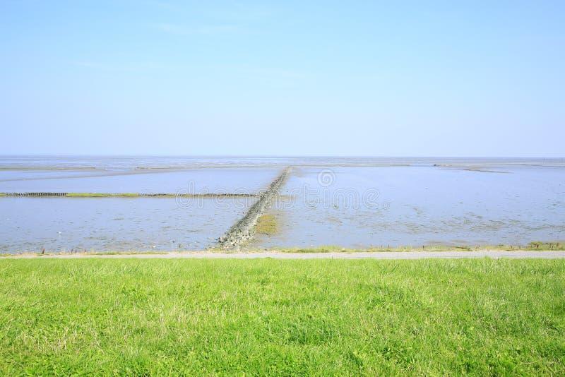 Toneelwadden Overzees Nationaal Park in Nedersaksen, Noordzee, Duitsland stock foto