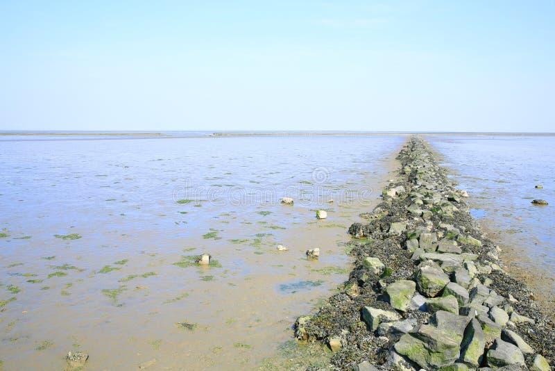 Toneelwadden Overzees Nationaal Park in Nedersaksen, Noordzee, Duitsland royalty-vrije stock afbeeldingen