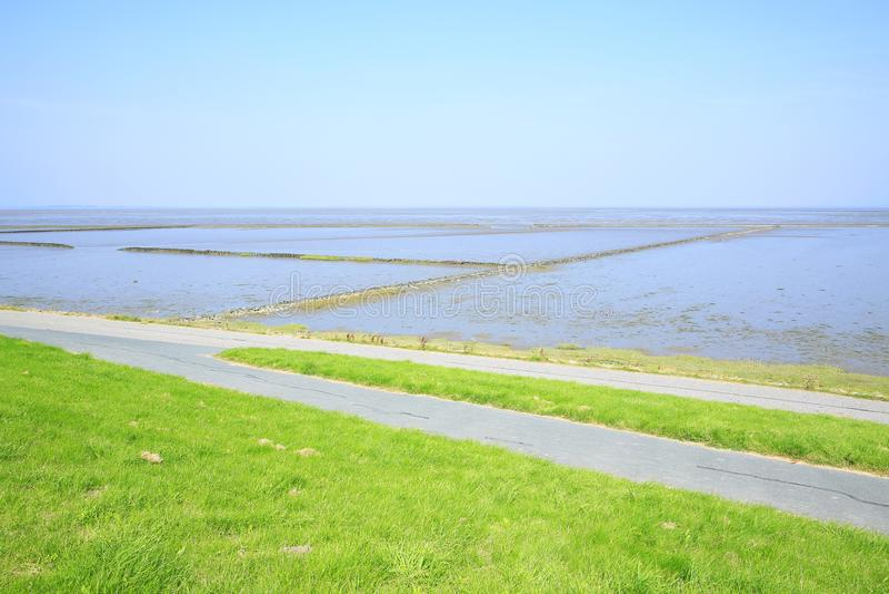 Toneelwadden Overzees Nationaal Park in Nedersaksen, Noordzee, Duitsland stock afbeeldingen