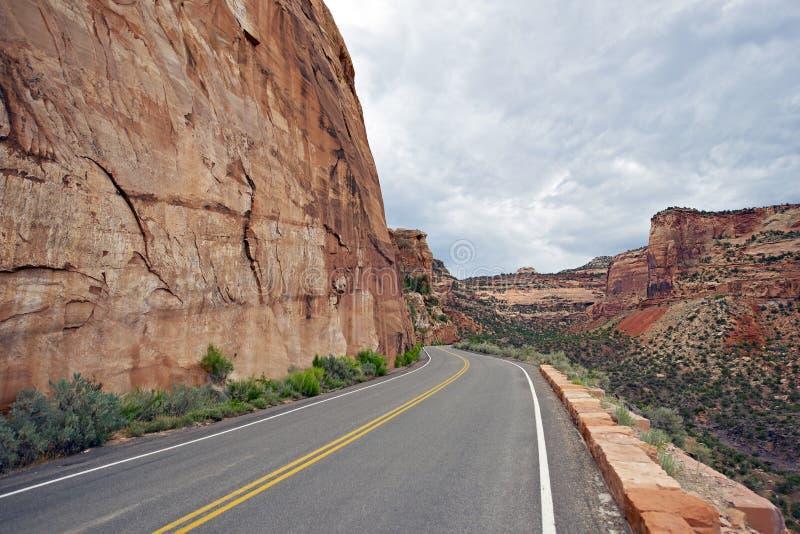 Toneelweg in Colorado stock foto