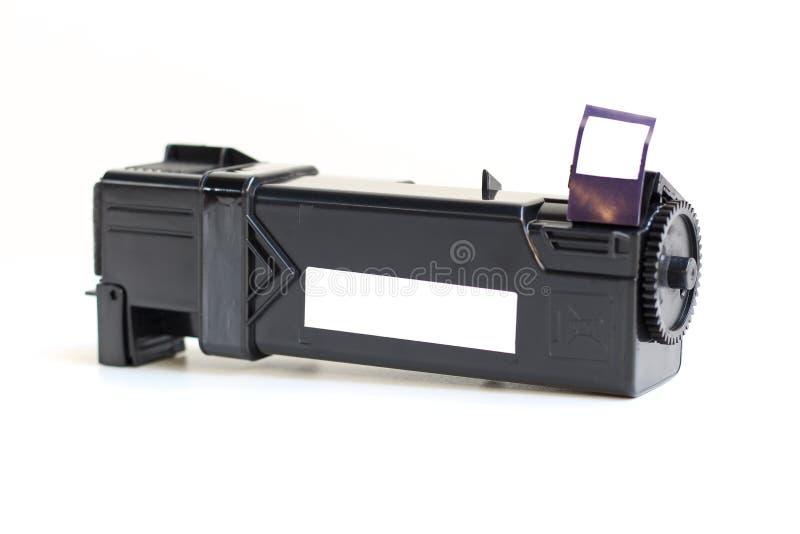Toner cartridge. Toner cartridge on white background.Compatible stock photo