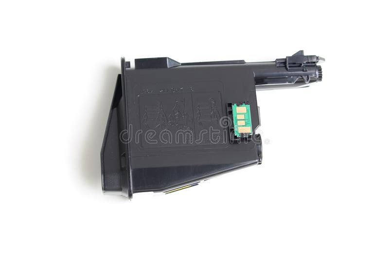 Toner cartridge. On white background.Compatible royalty free stock photo