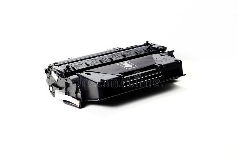 Toner cartridge. On white background.Compatible royalty free stock photography