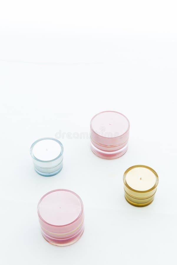 Toner cream four Piece royalty free stock photography
