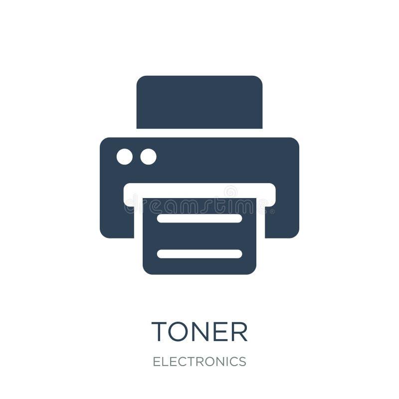 toner ikona w modnym projekta stylu toner ikona odizolowywająca na białym tle toner wektorowej ikony prosty i nowożytny płaski sy ilustracji