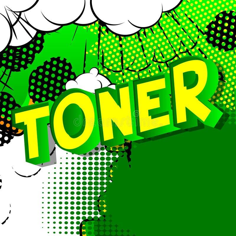 Toner - komiksu stylu słowa ilustracji
