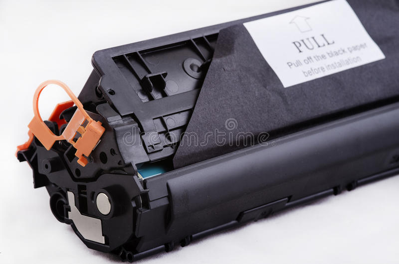 Toner for laser printer recycled. The photo shows toner for laser printer recycled royalty free stock image