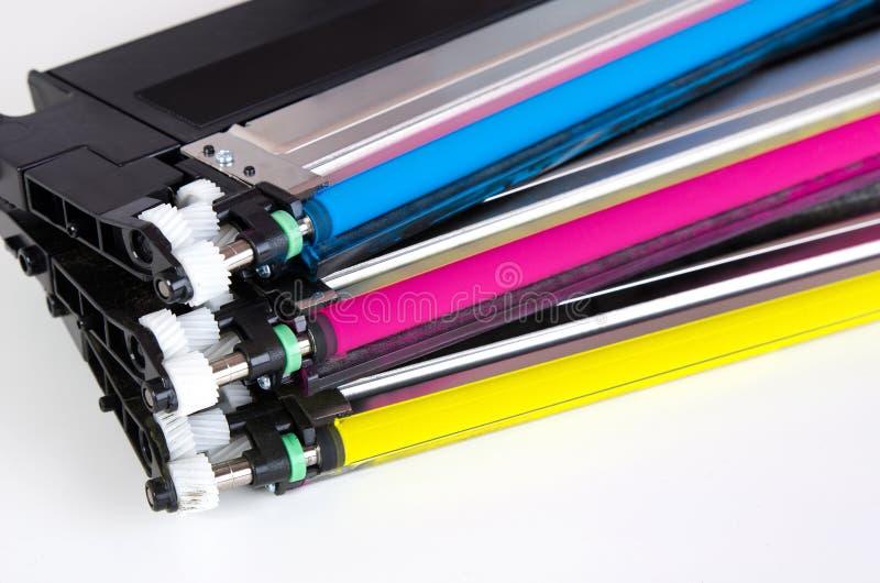 Toner patroon voor laserprinter wordt geplaatst die Computerlevering royalty-vrije stock foto