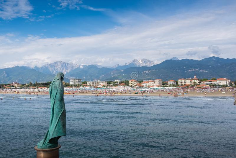 Tonfano Lucca, Tuscany - Italien royaltyfria bilder