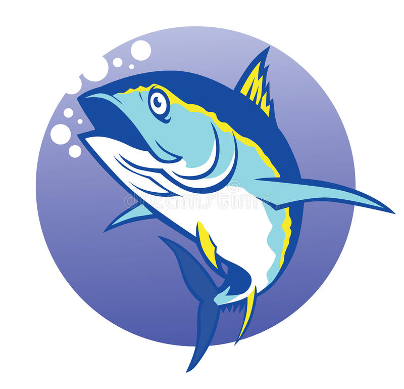 Tonfisk royaltyfri illustrationer