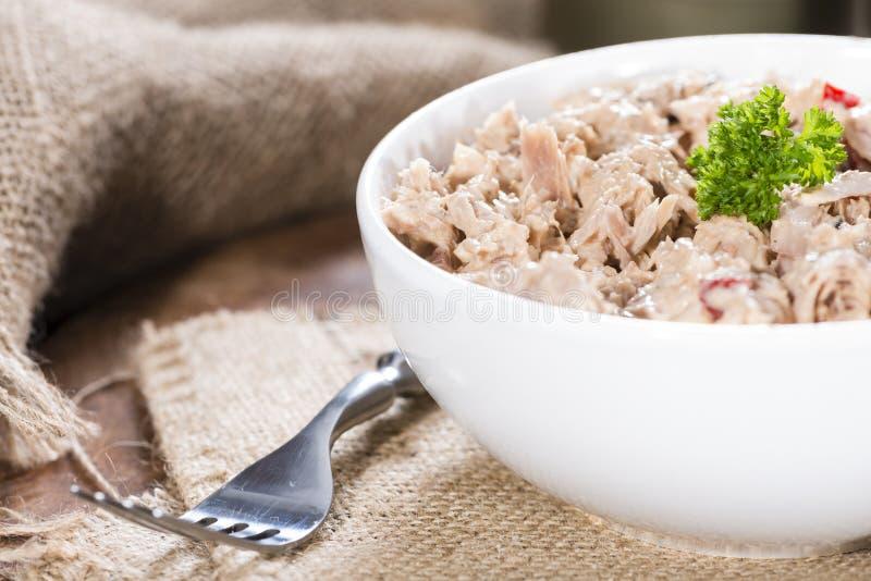 tonfisk för främre sallad för fokus selektiv royaltyfri foto