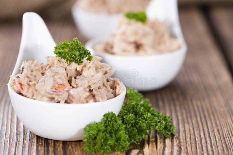 tonfisk för främre sallad för fokus selektiv royaltyfria foton
