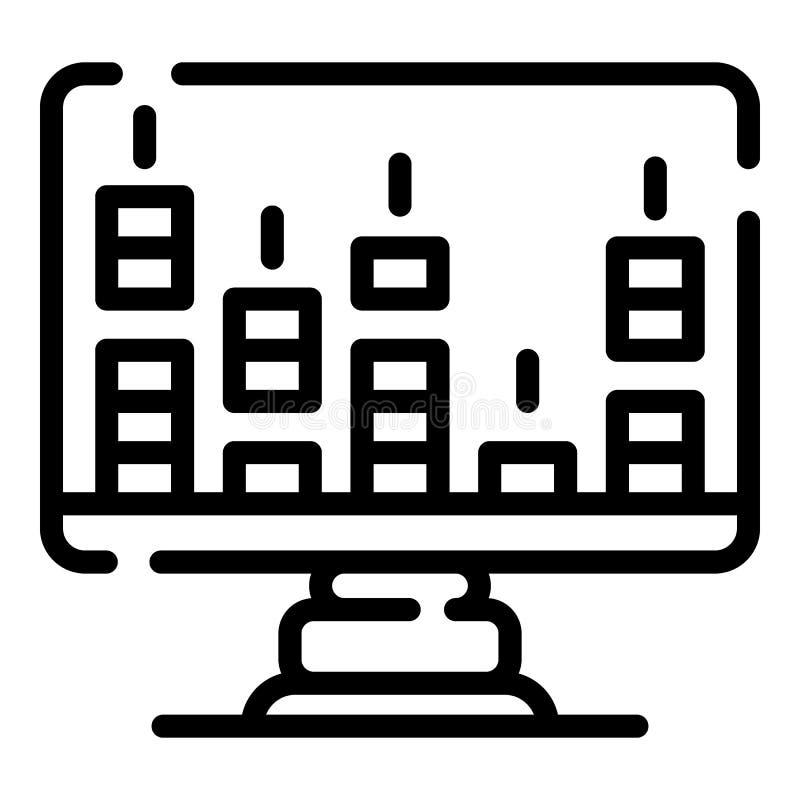 Tonfrequenzmonitorikone, Entwurfsart stock abbildung