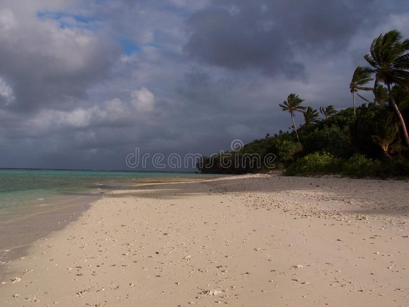 Tonga Island shoreline royalty free stock photo