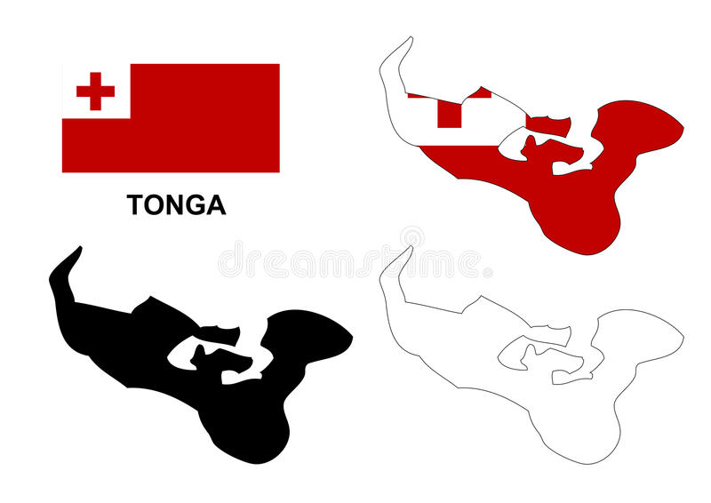 Download Tonga Map Vector Flag Isolated Stock