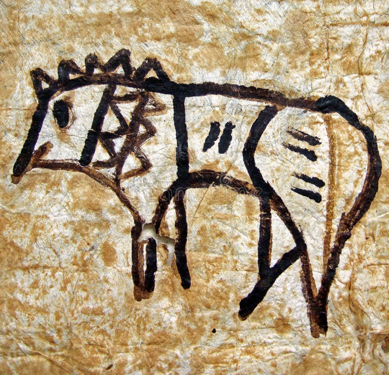 Tongaans dierlijk art. vector illustratie
