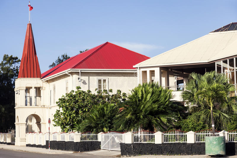 Tongan parlamentu budynek w Nuku ` alofa zdjęcie stock