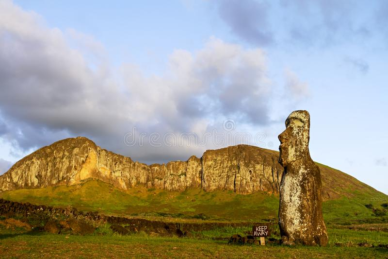 tongariki för moai för ahueaster ö arkivfoton